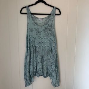 Intimately Free People Free Voile & Lace Trapeze M